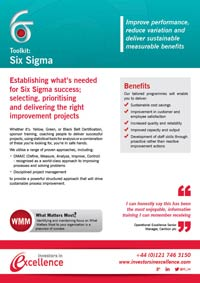 Toolkit: Six Sigma